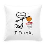 Basketball Stick Figure Everyday Pillow