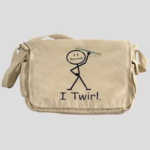 Baton Twirler Stick Figure Messenger Bag