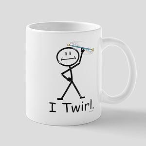 Baton Twirler Stick Figure 11 oz Ceramic Mug