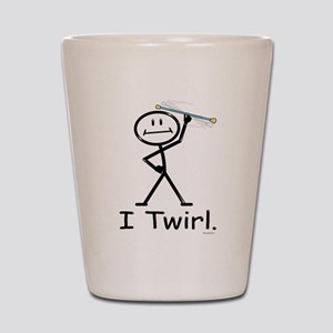 Baton Twirler Stick Figure Shot Glass
