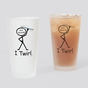 Baton Twirler Stick Figure Drinking Glass