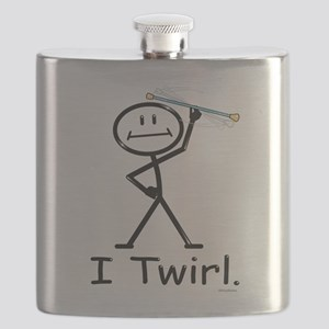 Baton Twirler Stick Figure Flask