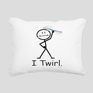 Baton Twirler Stick Figu Rectangular Canvas Pillow