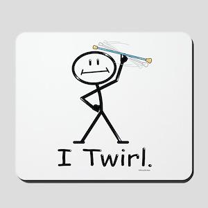 Baton Twirler Stick Figure Mousepad