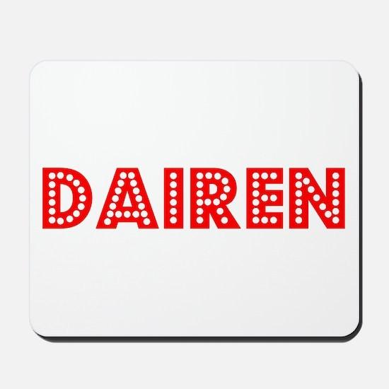 Retro Dairen (Red) Mousepad