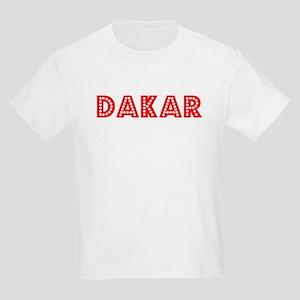Retro Dakar (Red) Kids Light T-Shirt