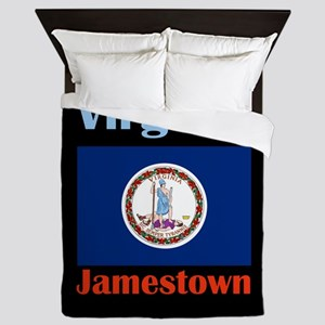 Jamestown Virginia Queen Duvet