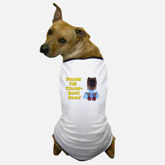 Cairn Terrier Oz Yellow Brick Road Dog T-Shirt