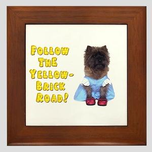 Cairn Terrier Oz Yellow Brick Road Framed Tile