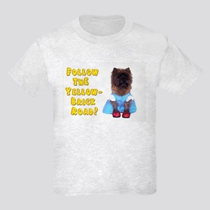Cairn Terrier Oz Yellow Brick R Kids Light T-Shirt
