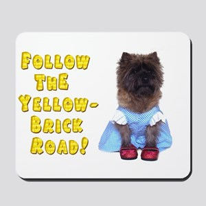Cairn Terrier Oz Yellow Brick Road Mousepad