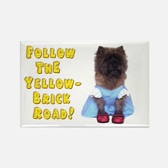 Cairn Terrier Oz Yellow Brick Roa Rectangle Magnet