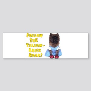 Cairn Terrier Oz Yellow Brick Roa Sticker (Bumper)