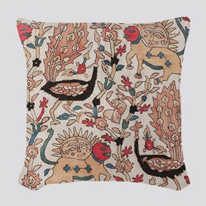 Kashan Persian Rug Woven Throw Pillow