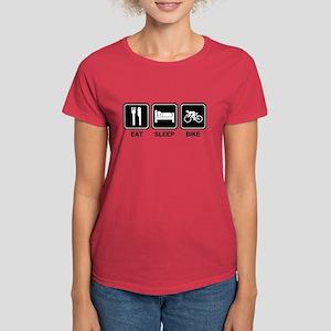 EAT SLEEP BIKE Women's Dark T-Shirt