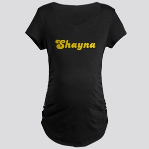 Retro Shayna (Gold) Maternity Dark T-Shirt