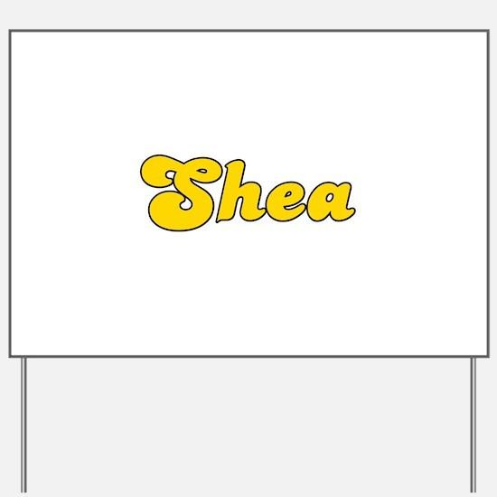 Retro Shea (Gold) Yard Sign