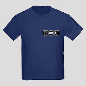 EAT SLEEP TENNIS Kids Dark T-Shirt