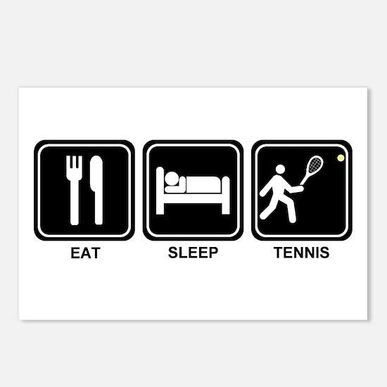 EAT SLEEP TENNIS Postcards (Package of 8)