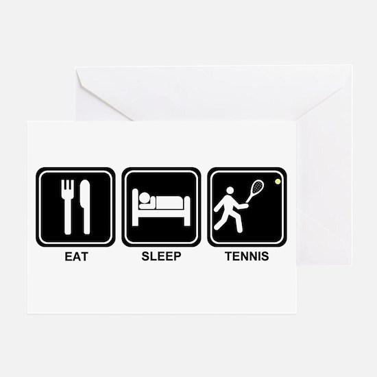 EAT SLEEP TENNIS Greeting Card