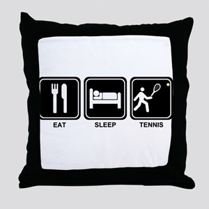 EAT SLEEP TENNIS Throw Pillow