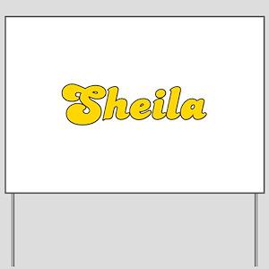 Retro Sheila (Gold) Yard Sign