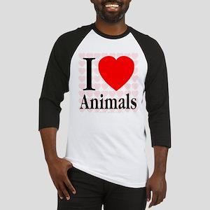 I Love Animals Baseball Jersey