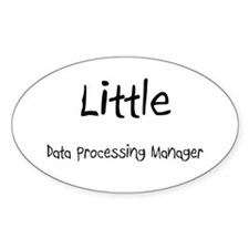 Little Data Processing Manager Oval Sticker