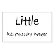 Little Data Processing Manager Rectangle Sticker