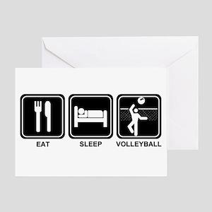 EAT SLEEP VOLLEYBALL Greeting Card