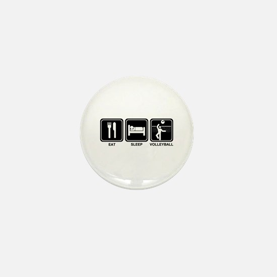 EAT SLEEP VOLLEYBALL Mini Button