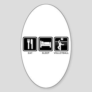 EAT SLEEP VOLLEYBALL Oval Sticker