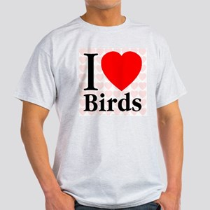 I Love Birds Ash Grey T-Shirt