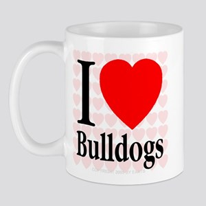 I Love Bulldogs Mug