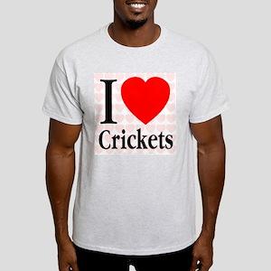 I Love Crickets Ash Grey T-Shirt