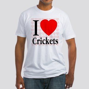 I Love Crickets Fitted T-Shirt