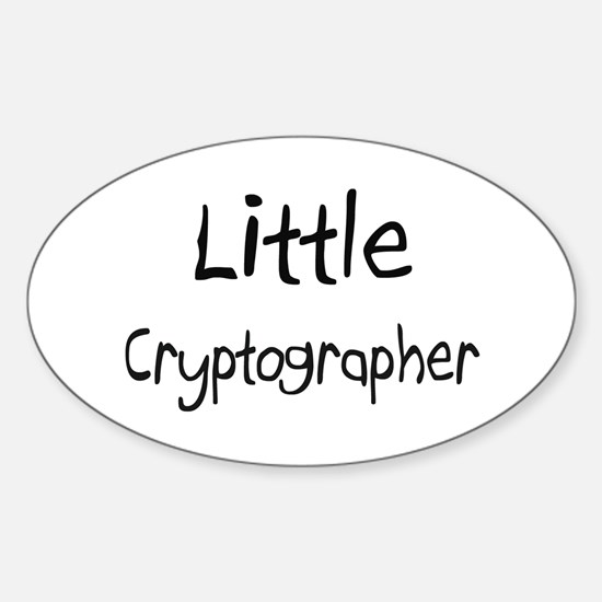 Little Cryptographer Oval Decal