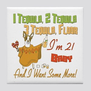 Tequila 21st Tile Coaster