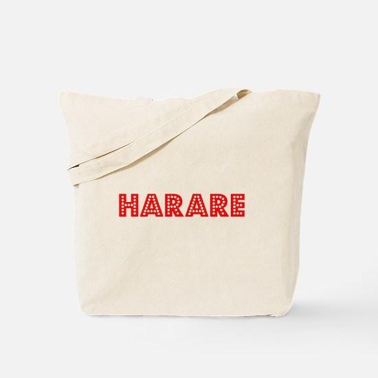 Retro Harare (Red) Tote Bag