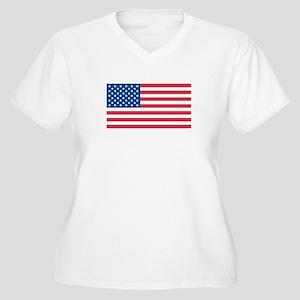 USA Womes Plus-Size V-Neck T-Shirt