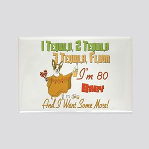Tequila 80th Rectangle Magnet