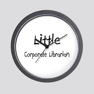 Little Corporate Librarian Wall Clock