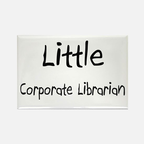 Little Corporate Librarian Rectangle Magnet
