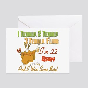 Tequila 22nd Greeting Card