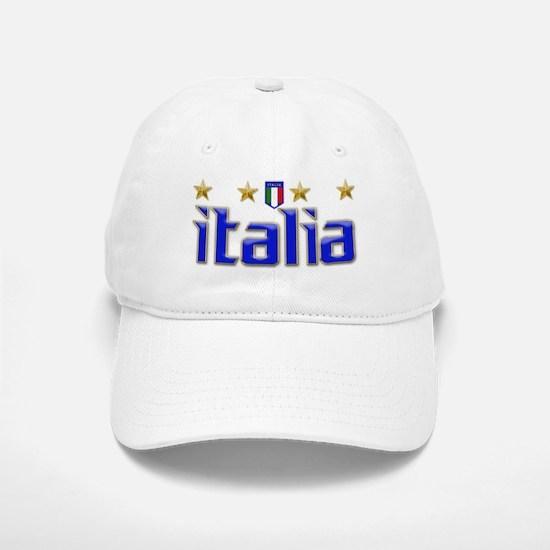 Italia 4 Star Soccer Baseball Baseball Cap