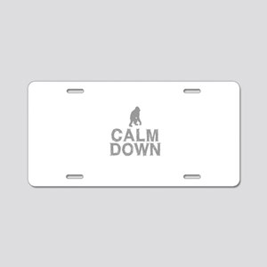 Calm Down. Grey Monkey Desi Aluminum License Plate