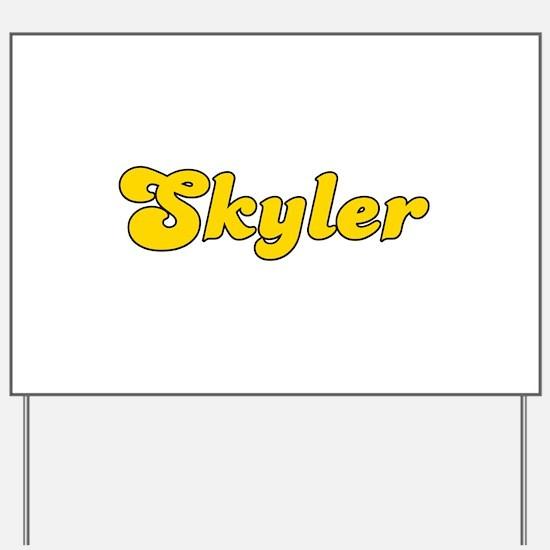 Retro Skyler (Gold) Yard Sign