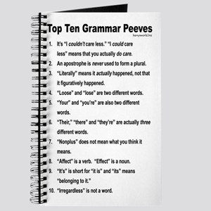 Grammar Peeves Journal