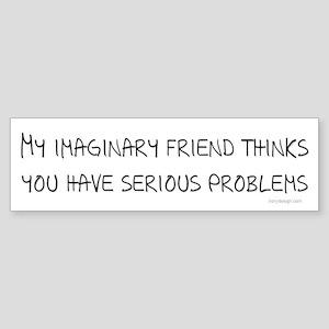 Imaginary Friend Bumper Sticker