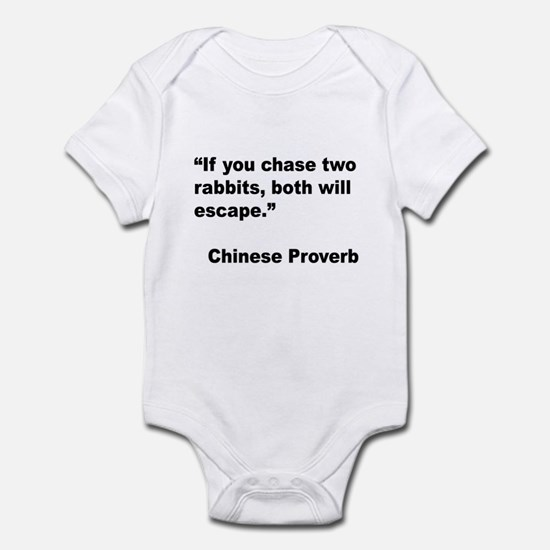 Chinese Rabbit Proverb Infant Bodysuit